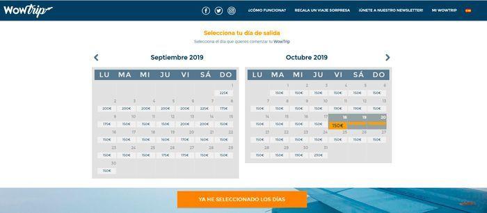viaje sin destino 150 euros