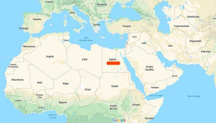 egipto en el mapa