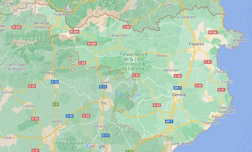 ruta girona mapa