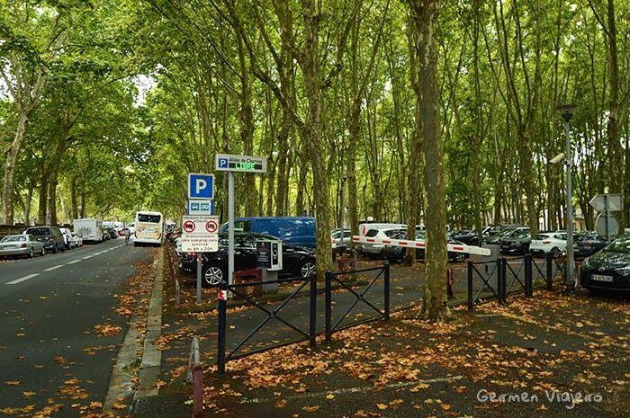 donde aparcar en Burdeos